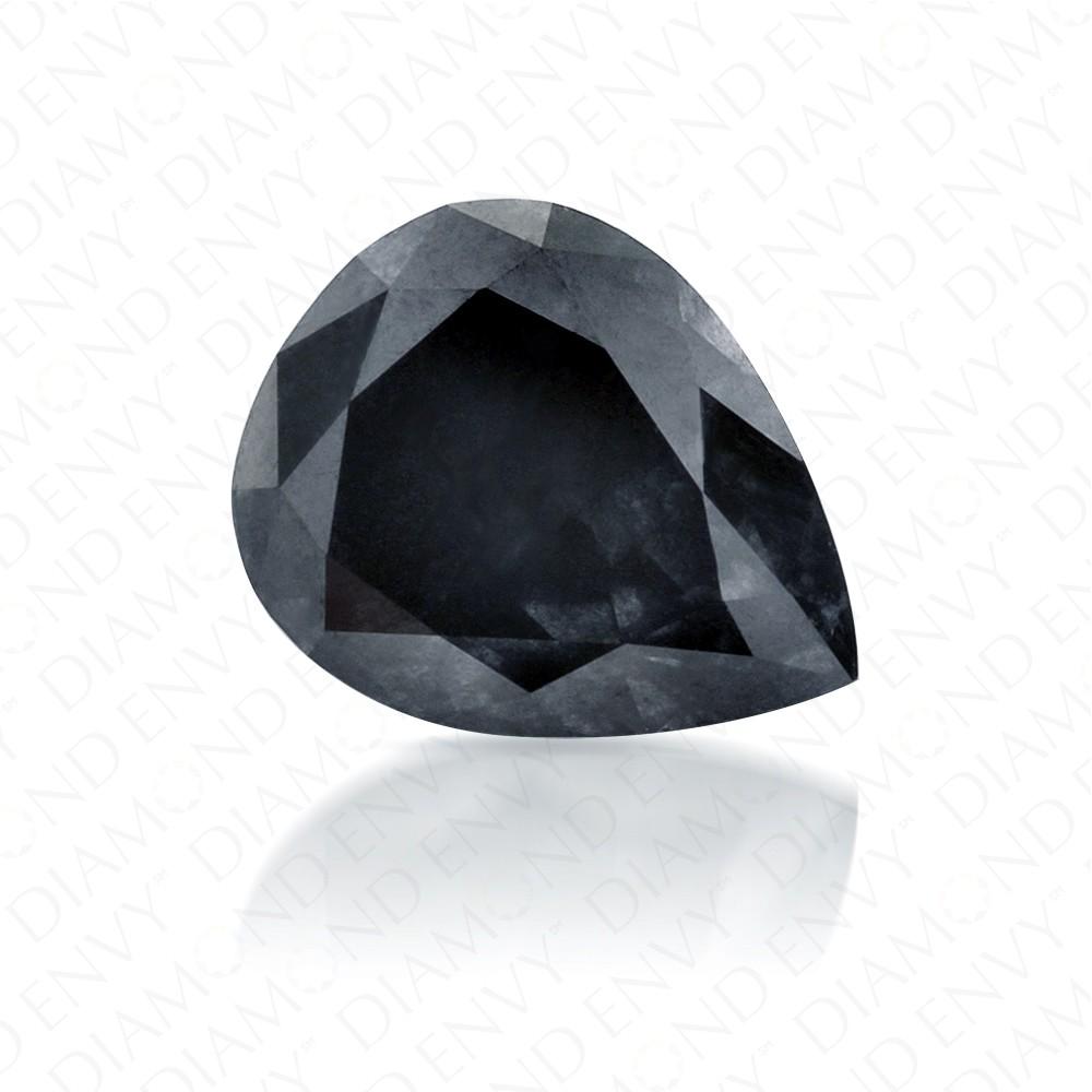 1.16 Carat Pear Shape Natural Fancy Dark Grey Diamond