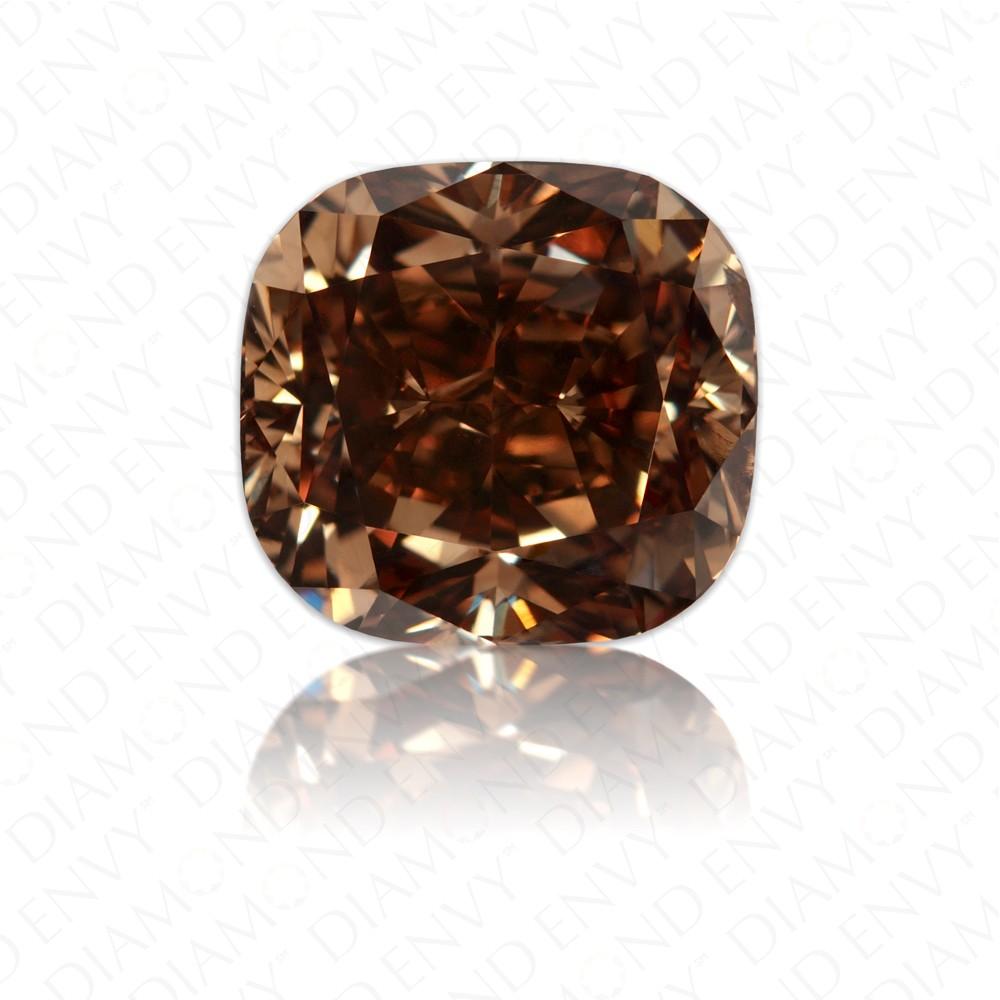3.24 Carat Cushion Cut Natural Fancy Dark Orange-Brown Diamond