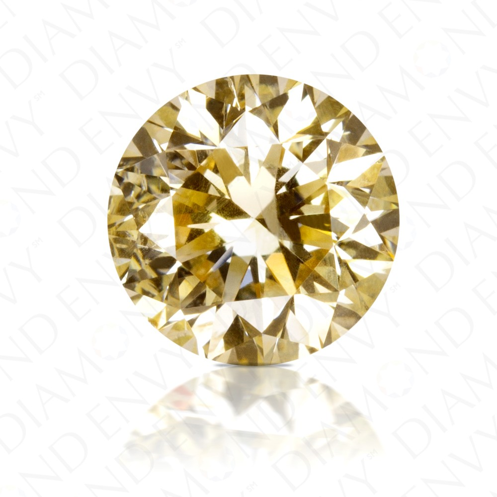 brilliant diamond round fancy yellow carat natural brownish