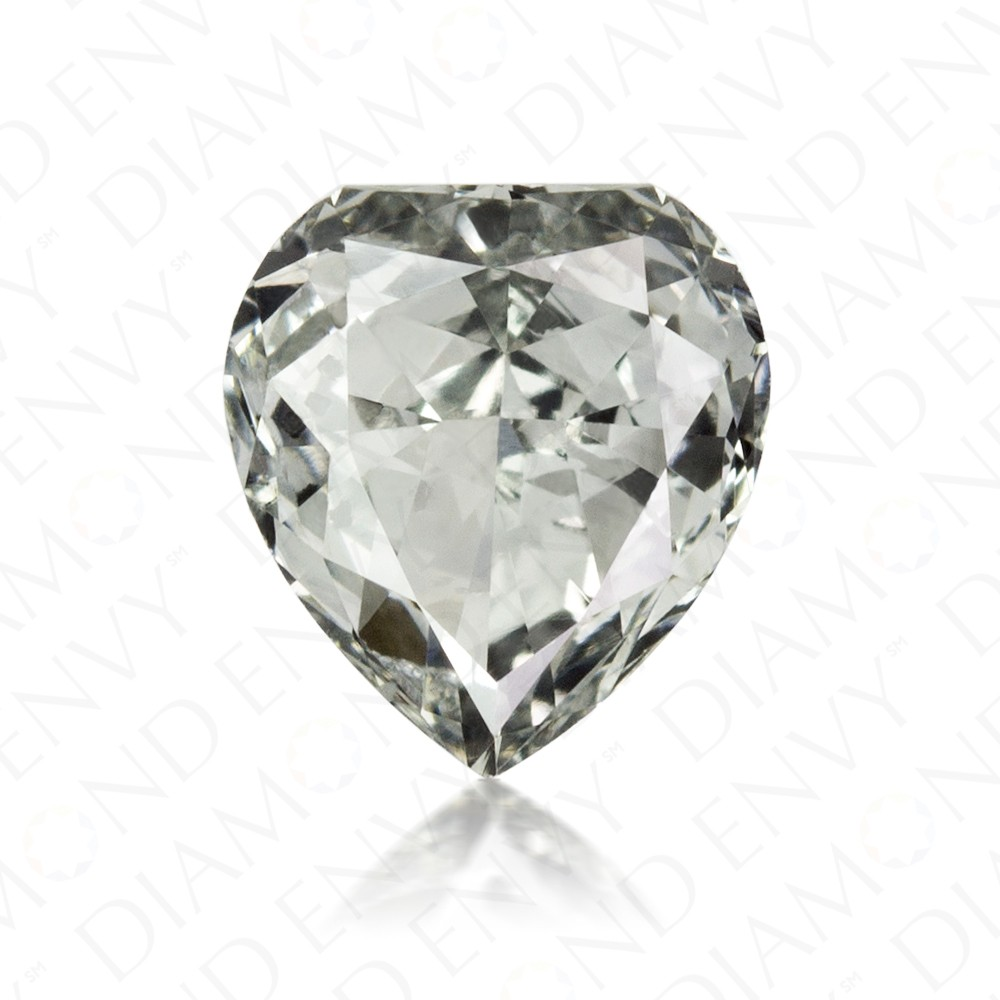 0.43 Carat Heart Shape Natural Fancy Grey-Green Diamond