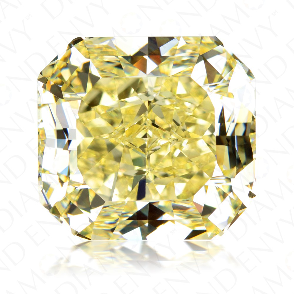 35.75 Carat Radiant Cut Fancy Yellow Diamond