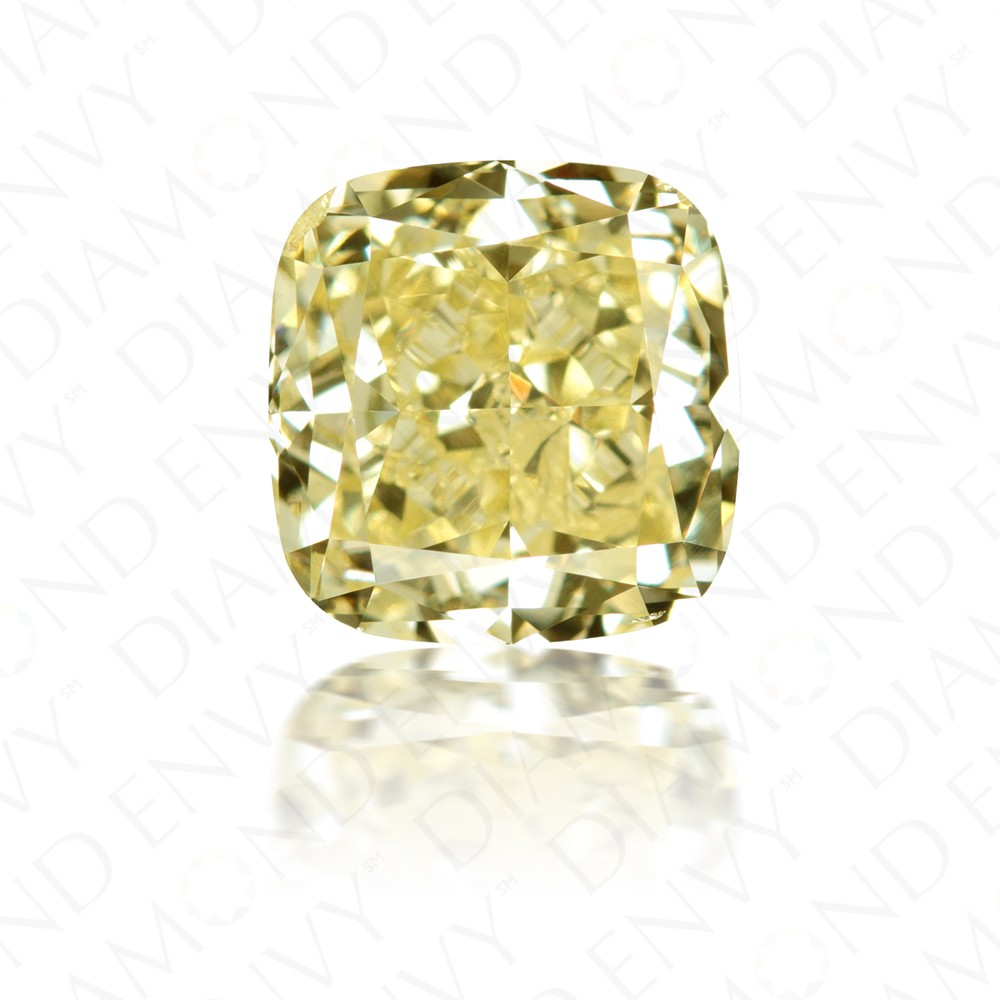3.03 Carat Cushion Cut Fancy Yellow Diamond