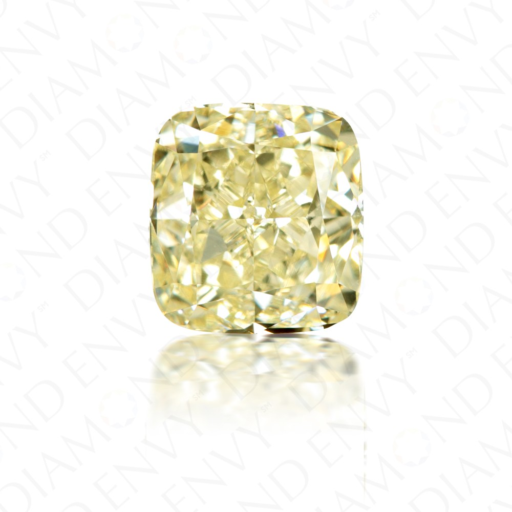 3.06 Carat Cushion Cut Natural Fancy Yellow Diamond