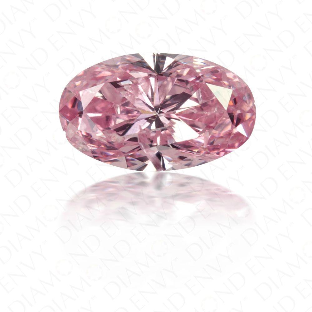 0.72 Carat Oval Cut Natural Fancy Intense Purplish Pink Argyle Diamond