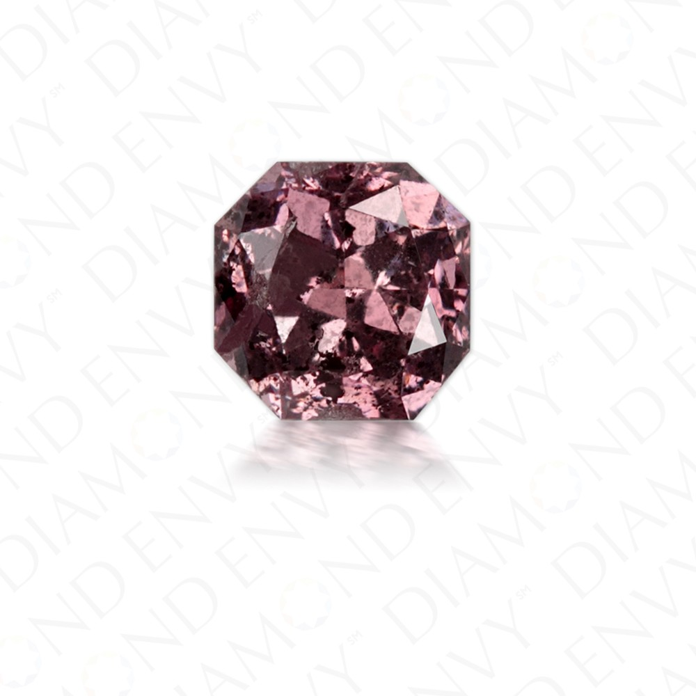 0.34 Carat Radiant Cut Natural Fancy Deep Brownish Purple-Pink Diamond