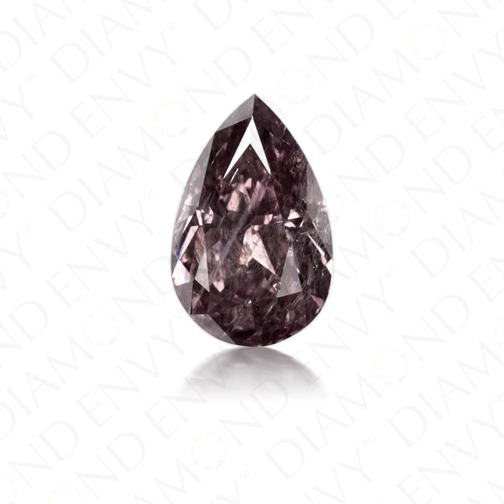 0.26 Carat Pear Shape Natural Fancy Dark Purple-Grey Diamond