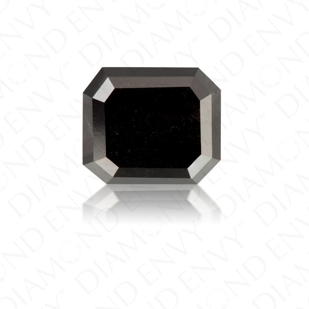 3.38 Carat Emerald Cut Natural Fancy Black Diamond