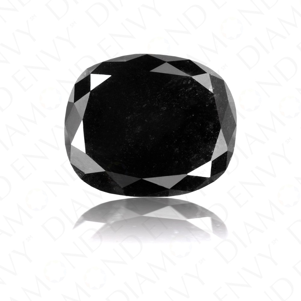 2.71 Carat Cushion Cut Natural Fancy Black Diamond