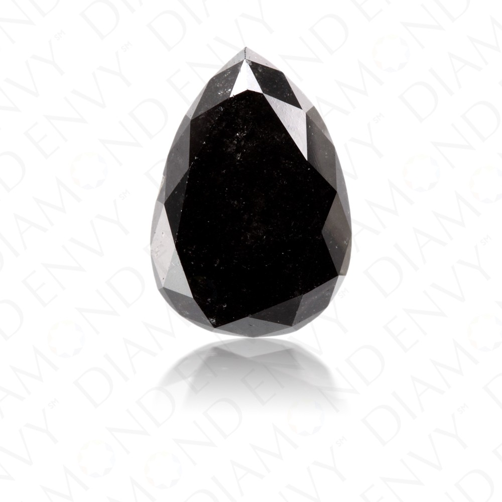 1.86 Carat Pear Shape Natural Fancy Black Diamond