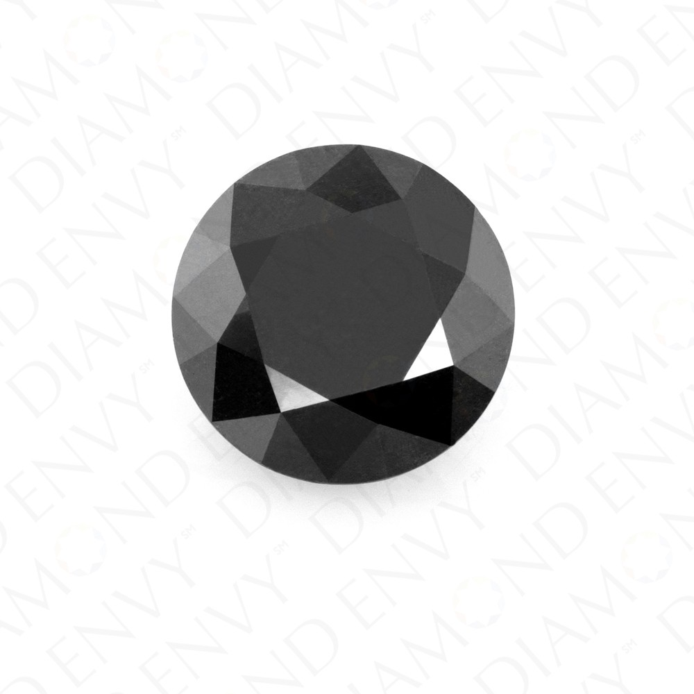 2.52 Carat Round Brilliant Natural Fancy Black Diamond
