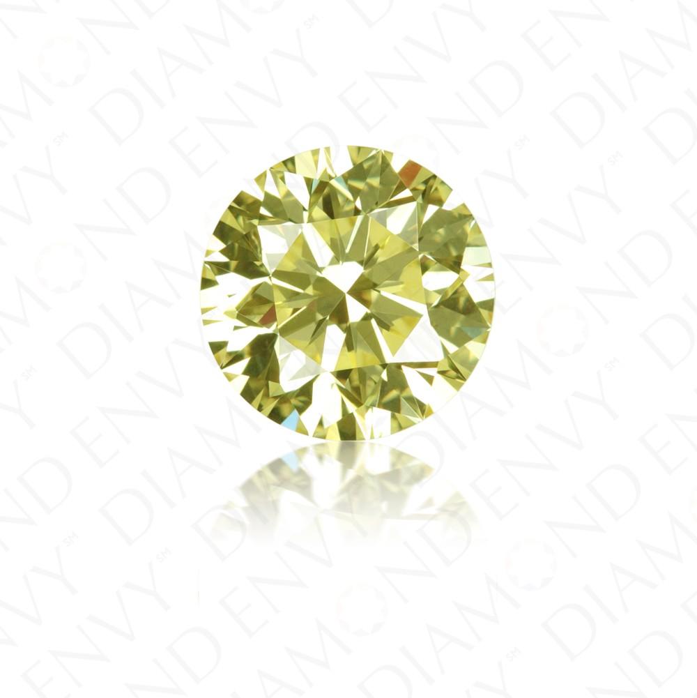 1.39 Carat Round Brilliant Natural Fancy Yellow Diamond