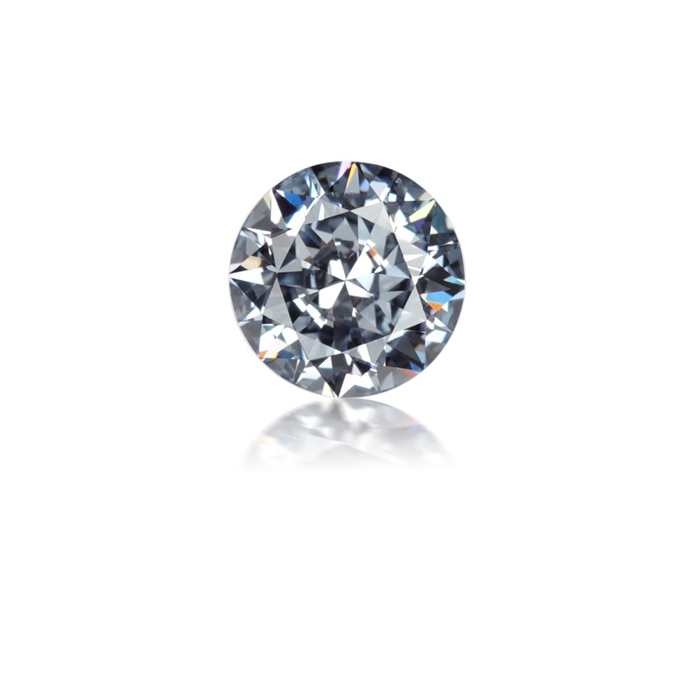 0.58 Carat Round Brilliant Natural Fancy Intense Blue Diamond