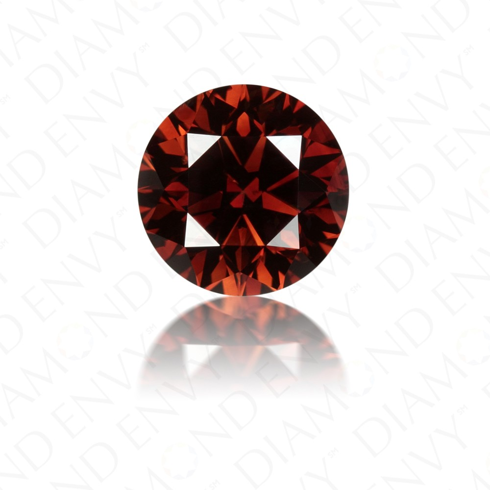 1.42 Carat Round Brilliant Natural Fancy Dark Orangy Brown Diamond
