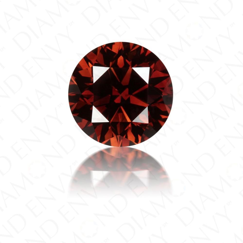 1.42 Carat Round Brilliant Natural Fancy Dark Orangy Brown Diamond
