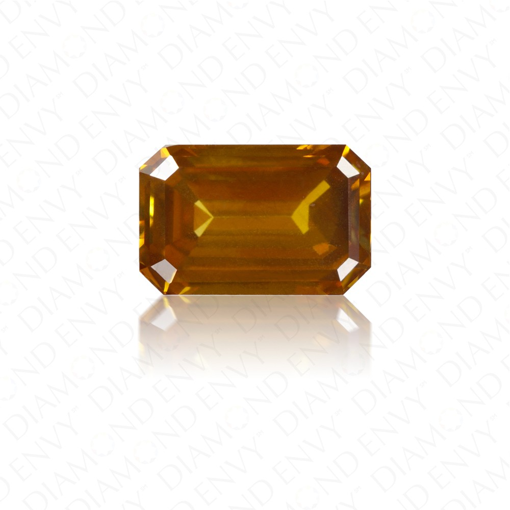 1.31 Carat Emerald Cut Natural Fancy Deep Brown-Orange Diamond