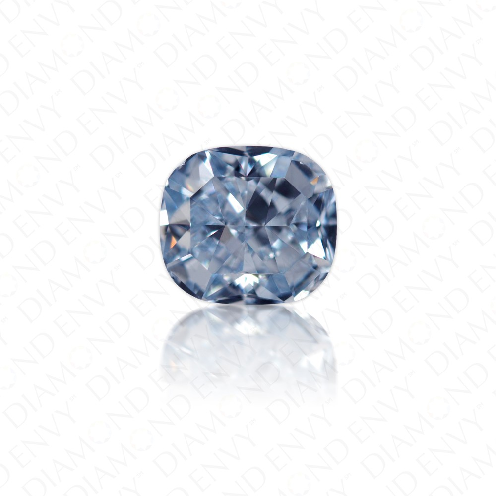 1 07 Carat Cushion Cut Natural Fancy Intense Blue Diamond Loose