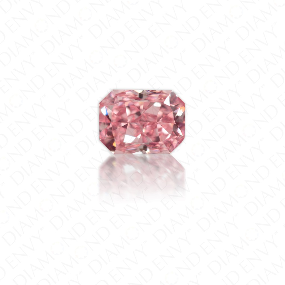 0.26 Carat VVS1 Radiant Cut Natural Fancy Intense Pink Diamond