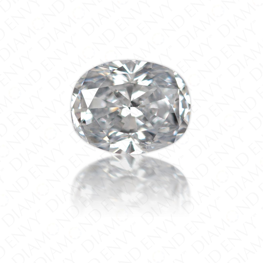 1.01 Carat Oval Natural Fancy Light Blue Diamond
