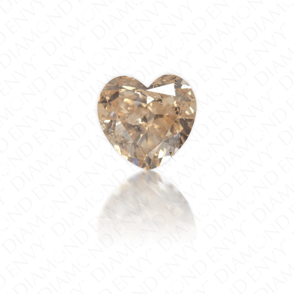 1.02 Carat Heart Shape Natural Fancy Pink-Brown Diamond