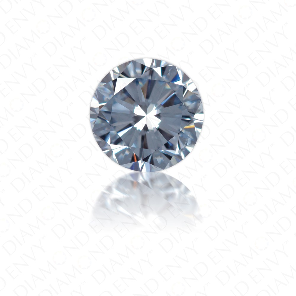 0.72 Carat Round Brilliant Natural Fancy Intense Blue Diamond