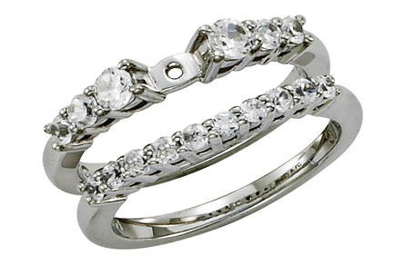 Contemporary Style Engagement Ring with Graduated Prong Set Diamond Band