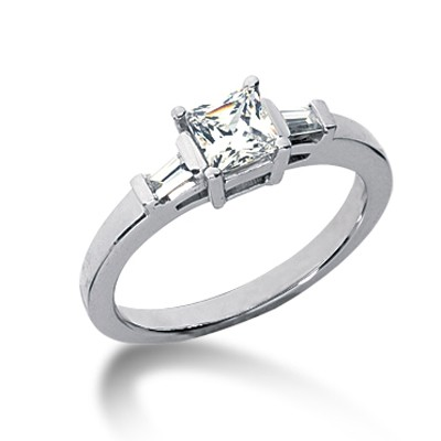 Classic Style Engagement Ring with Side Stones
