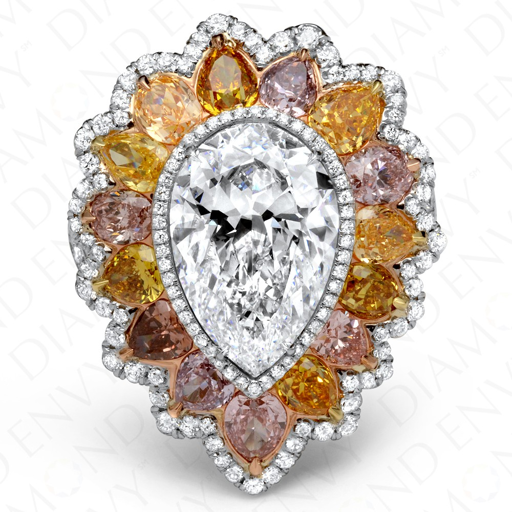 yellow platinum colored white canary beautiful ring color fancy diamond pin
