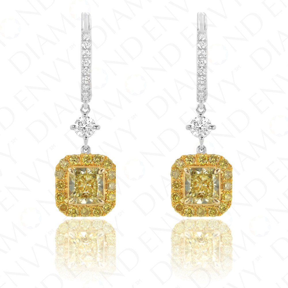 dp canary colored earrings cubic studs com amazon silver diamond for yellow zirconia earring jewelry sterling round men