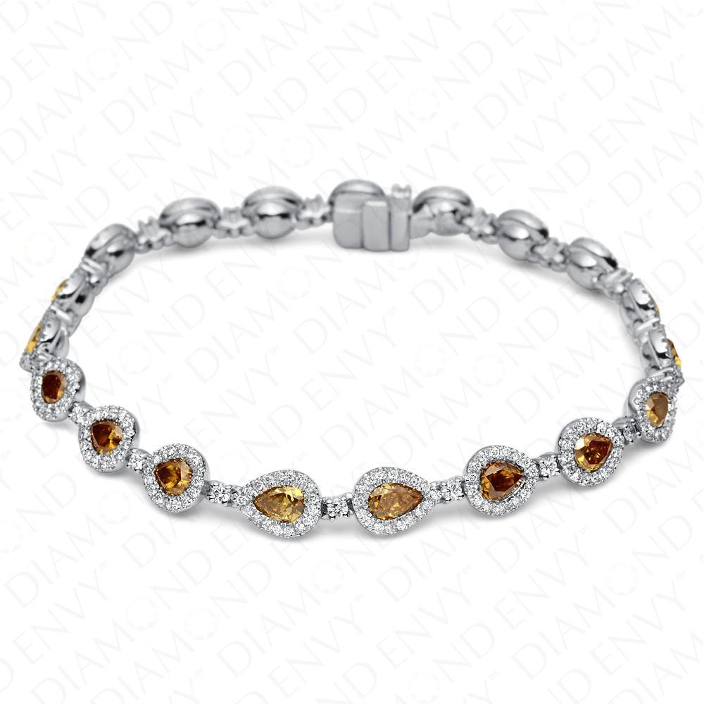 8.10 Carat Yellow Diamond Bracelet in 18K White Gold