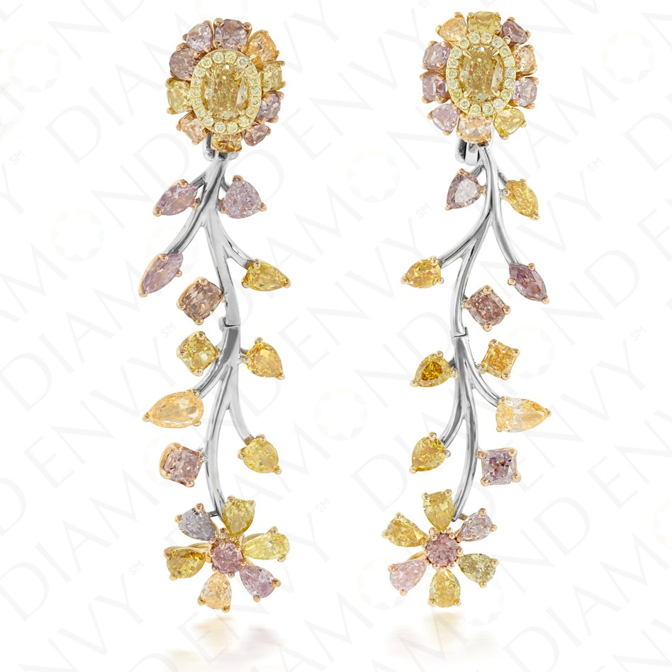 earrings multi jeweled colored dangle