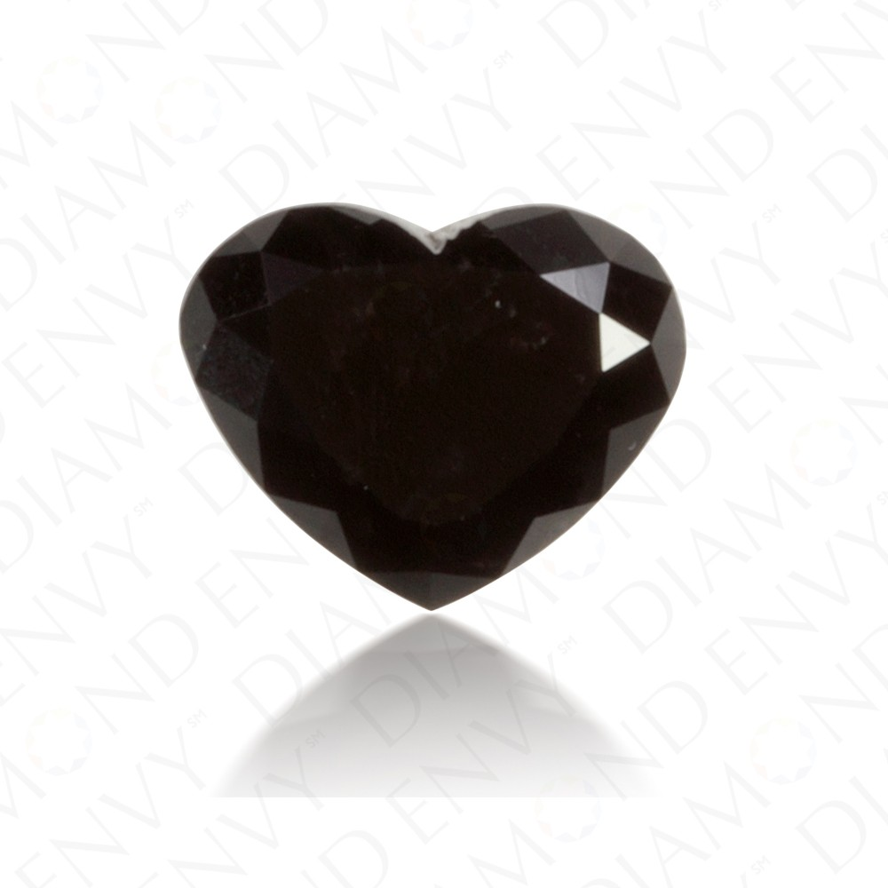 1.07 Carat Heart Shape Natural Fancy Black Diamond