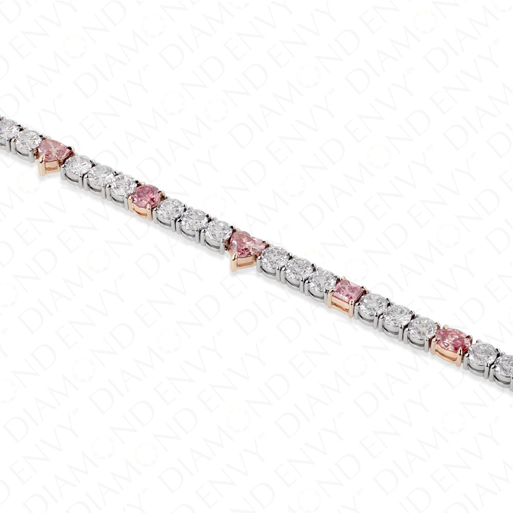 tw light gia pink certified ct mix shape oval bracelet diamond