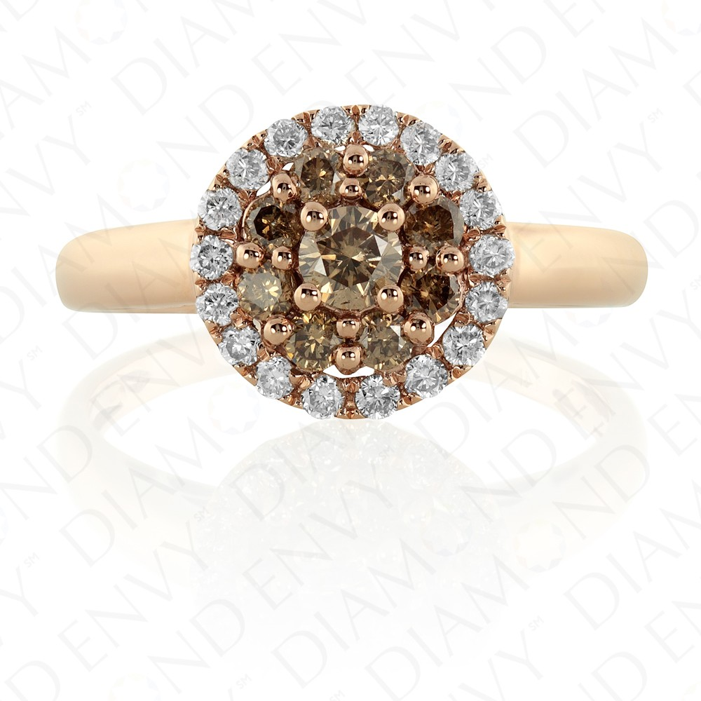 0.65 Carat Brown Diamond Ring in 14K Rose Gold