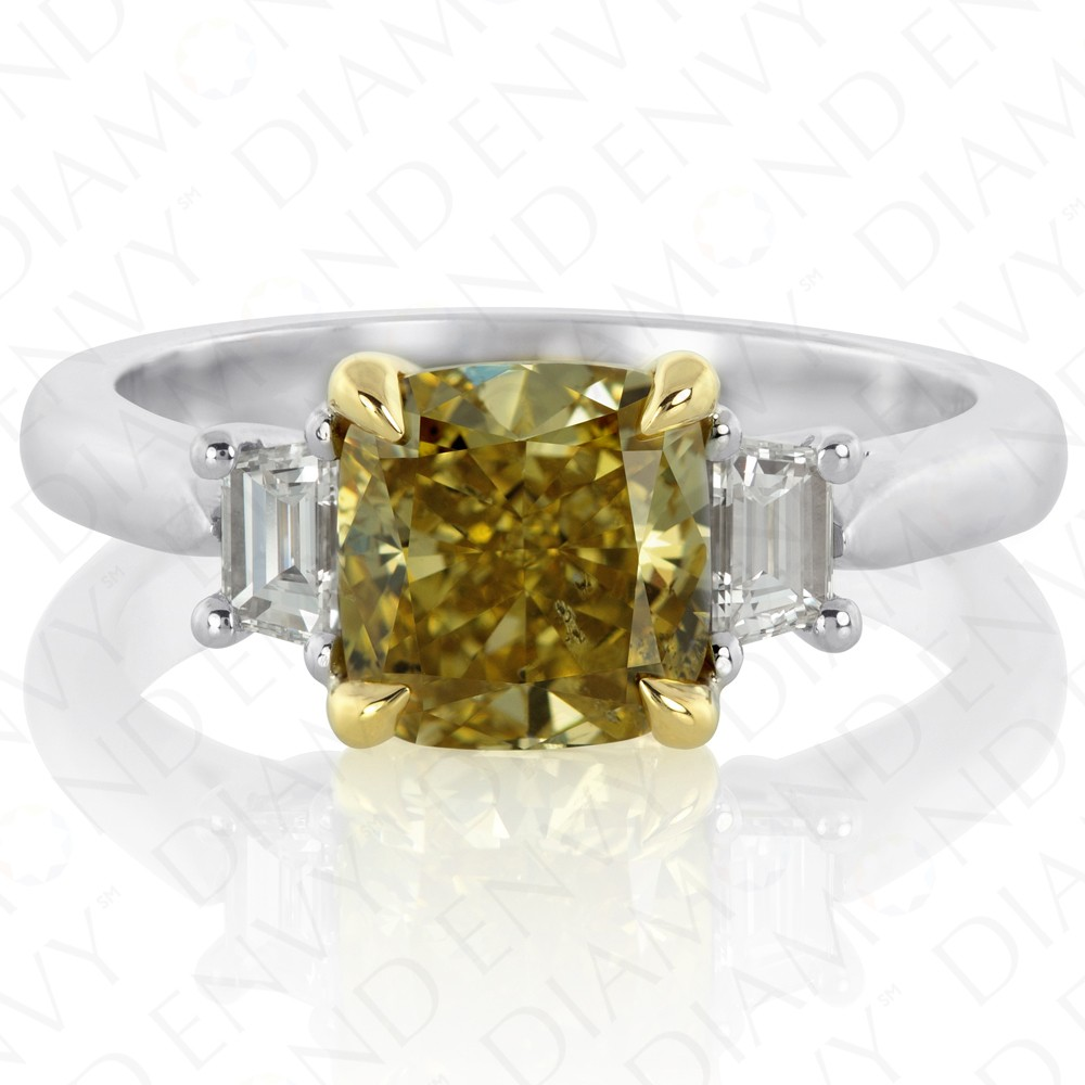 index yellow brownish diamond fancy dark plat gia natural ring
