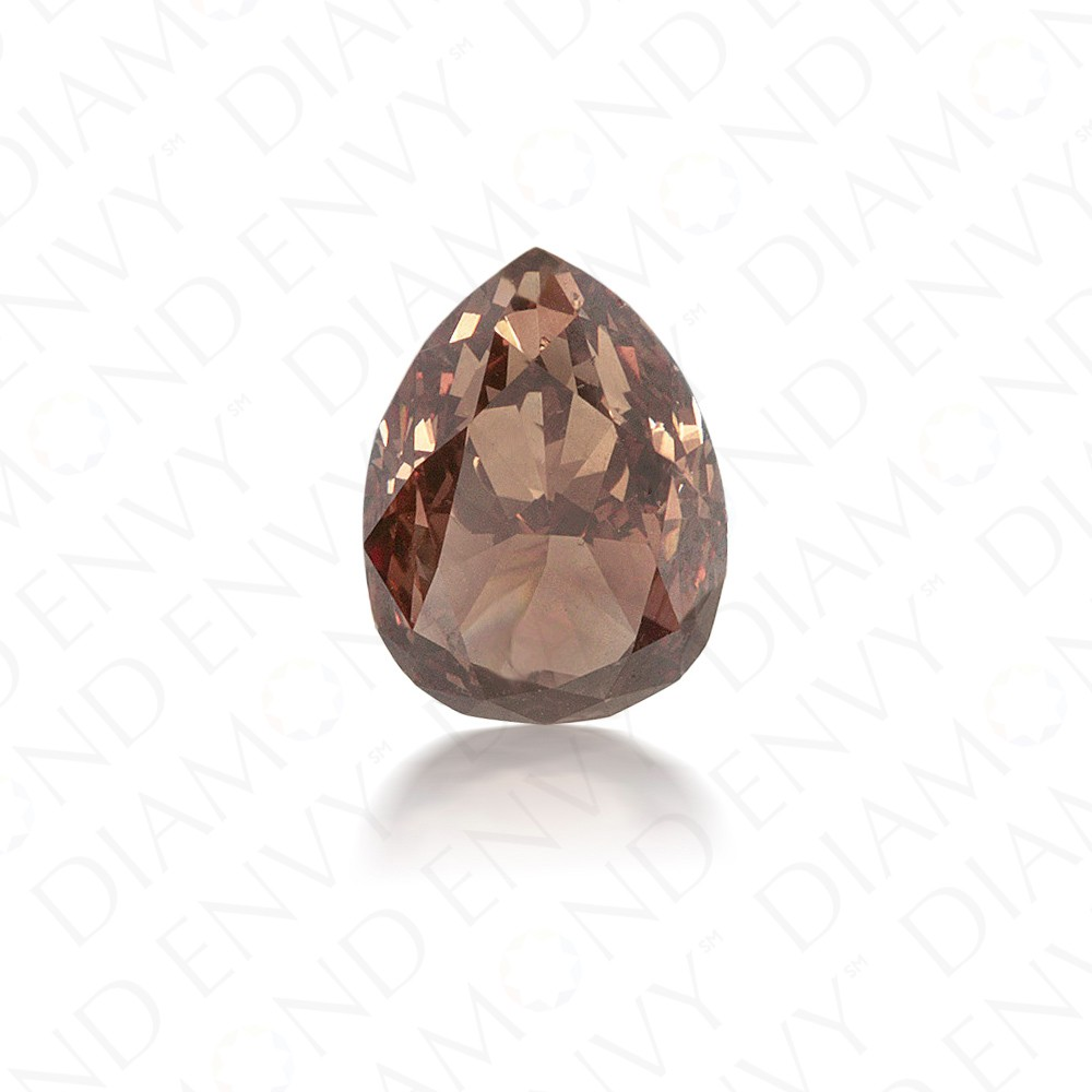 2.53 Carat Pear Shape Natural Fancy Dark Orange-Brown Diamond