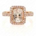 2.10 Carat Pink Diamond and Natural Morganite Ring in 18K Rose Gold