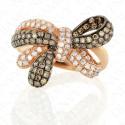 0.96 Carat Brown Diamond Ring in 14K Rose Gold