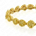 9.13 Carat Fancy Vivid Yellow Diamond Bracelet in 18K Yellow Gold