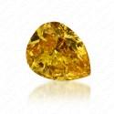 0.46 Carat Pear Shape Natural Fancy Vivid Yellow Diamond