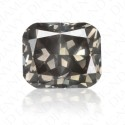 1.03 Carat Cushion Cut Fancy Dark Grey Diamond