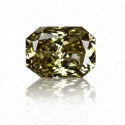 1.07 Carat Radiant Cut Natural Fancy Dark Chameleon Diamond