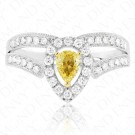 Tiara Yellow Diamond Ring with Split Shank