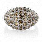 3.39 Carat Brown Diamond Ring in 14K White Gold