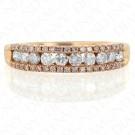 0.60 Carat Fancy Pink Diamond Ring in 14K Rose Gold