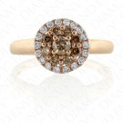 0.65 Carat Brown Diamond Ring in 14K Rose Gold