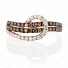 0.70 Carat Brown Diamond Ring in 14K Rose Gold