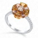 2.27 Carat Fancy Multi-Colored Diamond Ring in 18K Two-Tone Gold