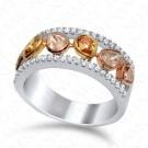 1.55 Carat Fancy Multi-Colored Diamond Ring in 18K Two-Tone Gold