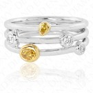 Yellow Diamond Fixed Stackable Ring