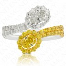 Double Wrap Around Oval Fancy Intense Yellow Diamond Ring